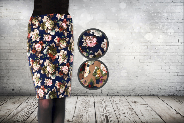 £14.99 instead of £40.05 (from Traffic People) for a Moody Blooms floral pencil skirt - choose from 2 colours and save 63%