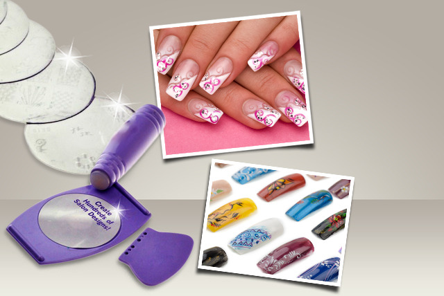 £6 instead of £24.95 (from SalonBoxed) for a DIY nail art stamp kit - accessorise your nails and save 76%