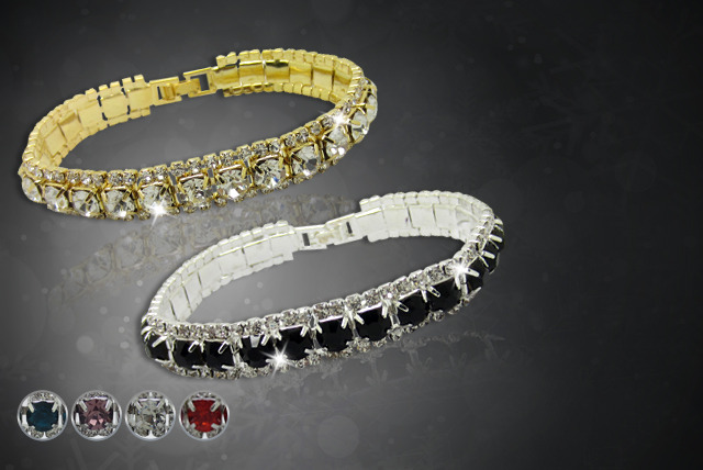 £10 for a Swarovski Elements tennis bracelet  - choose from 6 colours from Cian Jewels