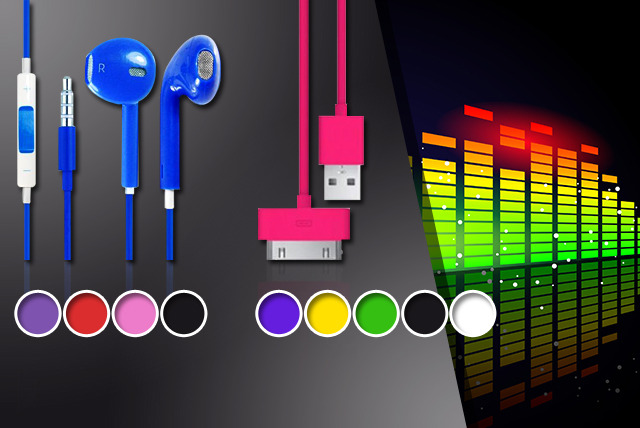 £4.99 (from Links 4) for a 2m iPhone 3/3GS/4/4S or 5 data & charging cable and Ear Pods iPhone headphones - save 77%