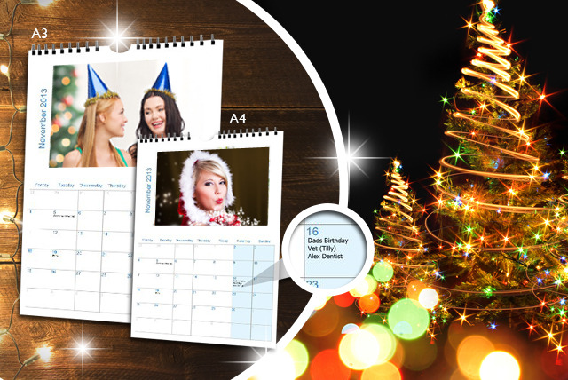 £5 instead of £14.99 (from My Print Gifts) for an A4 personalised calendar, or £7 for an A3 calendar - save up to 67%