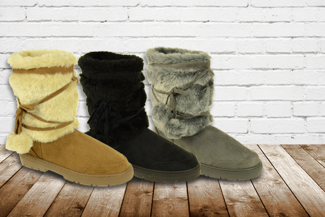 £14 instead of £30 (from Linzi) for a pair of faux fur-lined boots in a choice of 4 colours - save 53%