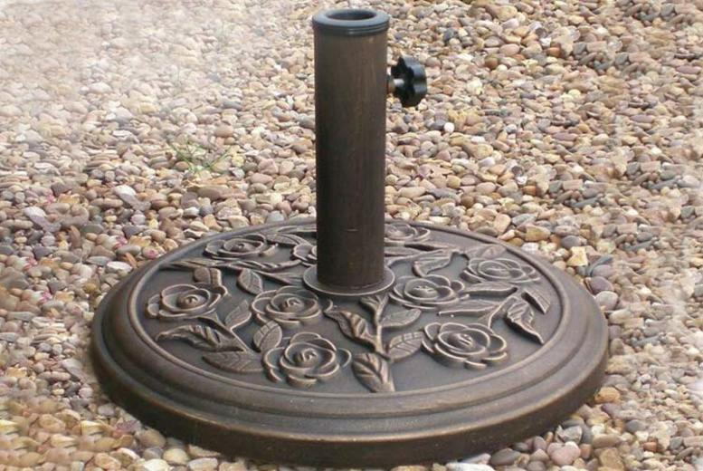 Heavy Duty Cast Iron Effect Parasol Stand