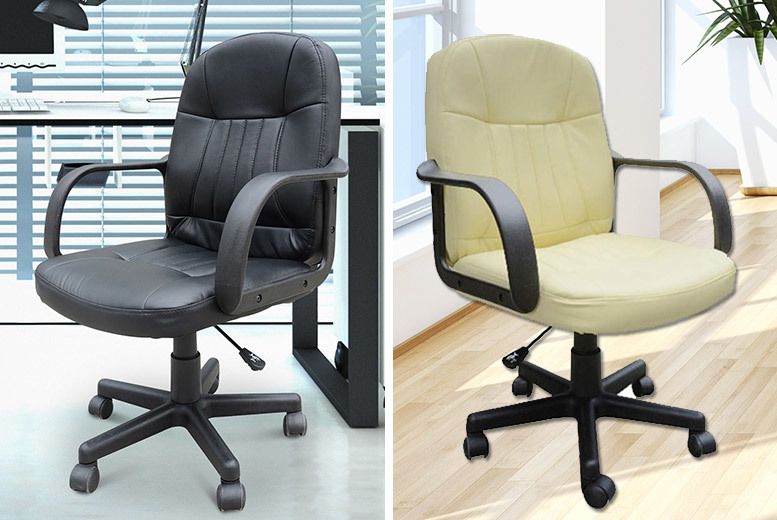 PU Leather Office Swivel Chair  2 Colours
