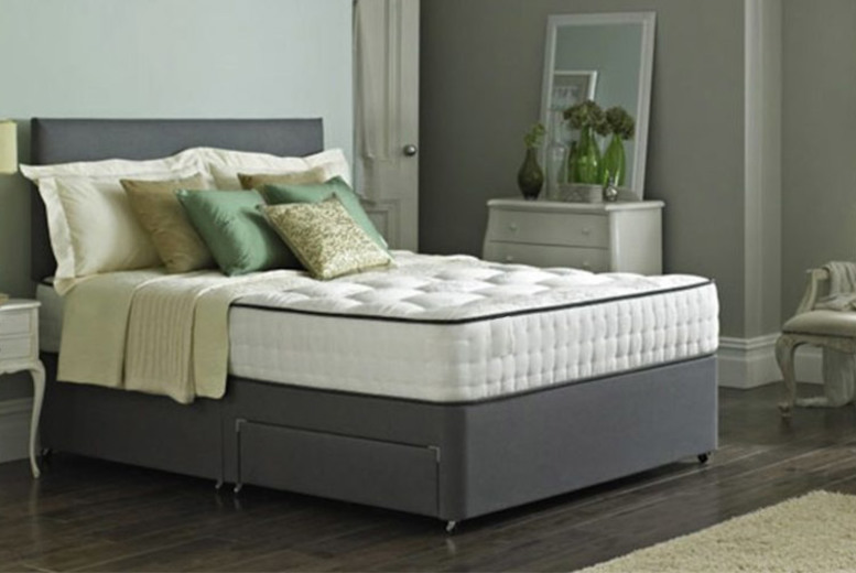 Taylor Divan Bed with Memory Spring Mattress & Drawer Options (£79)