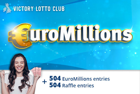 £9 instead of £44 for 504 syndicated EuroMillions lines and 504 syndicated raffle entries from Victory Lottery Club - save 80%