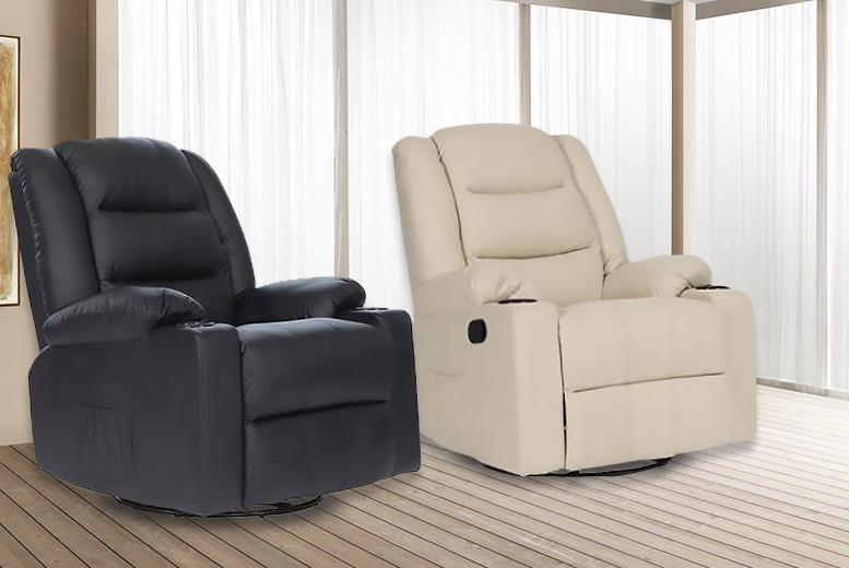 Leather Cinema Massage Sofa Recliner Chair - 4 Colours!
