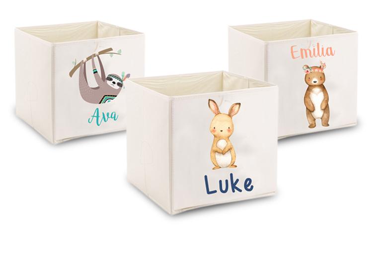 Kids Personalised Fabric Storage Box  34 Designs!