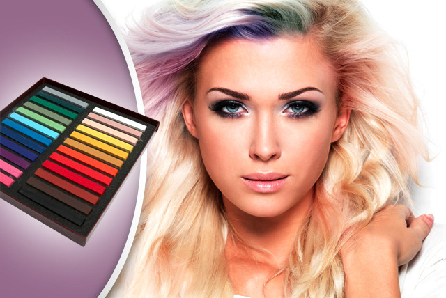 £9 instead of £48.99 (from Merchtopia) for a 24-pack of hair colour chalks - try a new look and save 82%