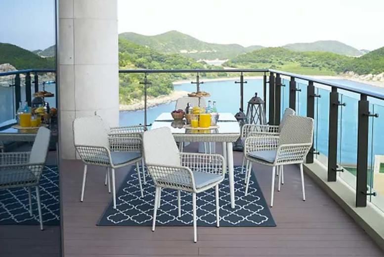 7pc Rattan Furniture Set w/ Optional Rain Cover