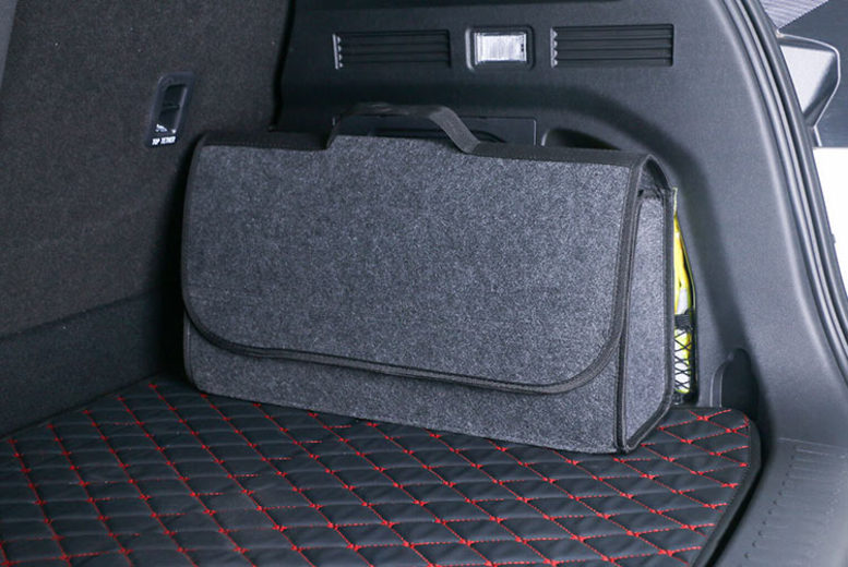 Large Grey AntiSlip Car Boot Storage Organiser