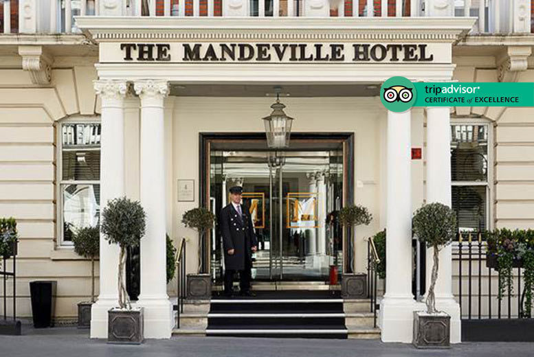 Restaurants & Bars: 4* Afternoon Tea & Prosecco for 2 @ The Mandeville Hotel, Mayfair - Weekend Availability!