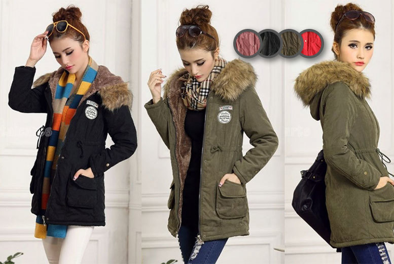 Women&39s Fleece-Lined Parka Coat for £19 (save 69%) | Daily Good