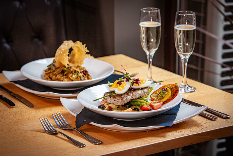 Restaurants & Bars: 2-Course Dining & Wine for 2 People – Bottomless Bellini Upgrade!