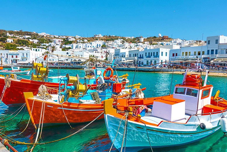 Beach Holidays: 3-7nt 4* Mykonos Break & Breakfast - Optional Transfers or Car Hire!
