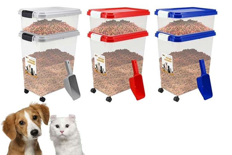 3pc Pet Food Storage Container Set  4 Colours!