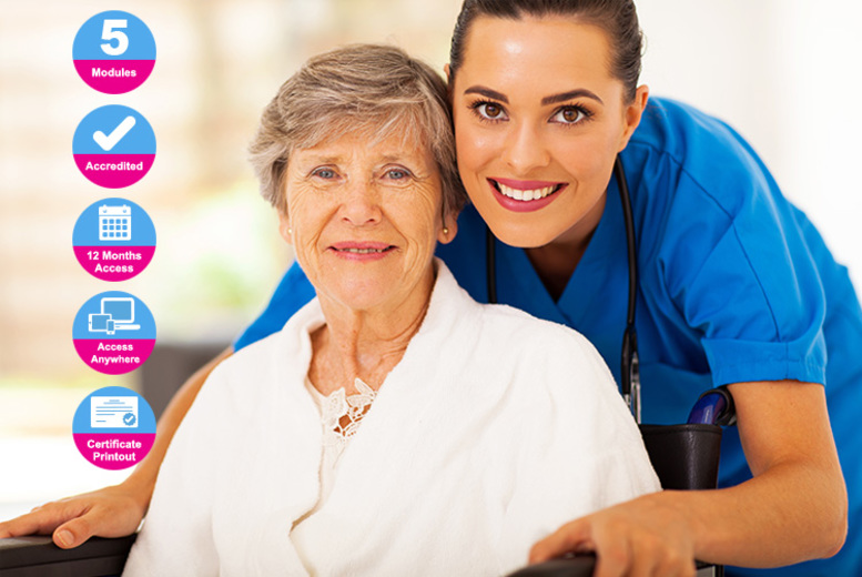 £14 instead of £99 (from International Open Academy) for an accredited care for older adults course – save 86%
