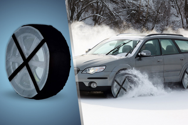 £24.99 instead of £38.99 (from My Home Perfect) for a set of tyre snow socks in small, medium or large - grip and save 38%