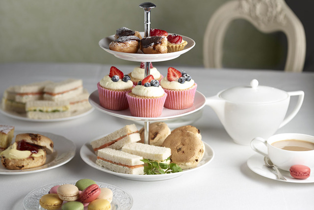 £12 for afternoon tea for 2 inc. sandwiches, scones & glass of wine each, or £23 for 4 at Mercure Goldthorn Hotel - save up to 58%