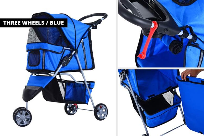 PawHut Pet Travel Stroller 2 Wheel Options and 9 Colours