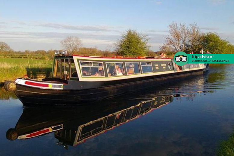 Entertainment: Shropshire Union Canal Cruise With Fish & Chips for 2 - Weekend Dates!