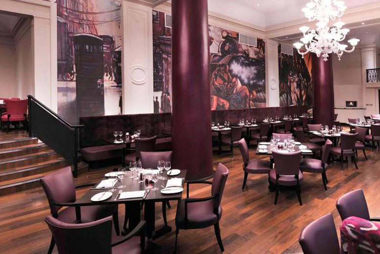 Restaurants & Bars: 2-Course Dinner for 2 @ 4* Grand Central Glasgow - Prosecco Upgrade