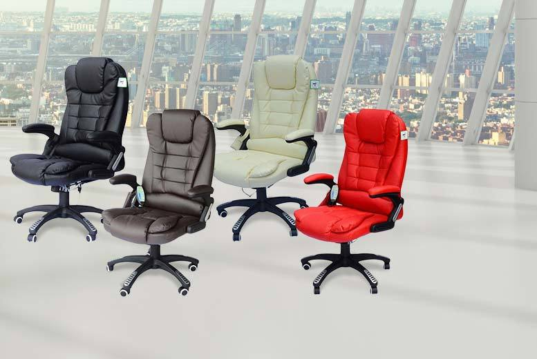 £79 instead of £180 (from Aosom) for a leather office chair with massage function - choose from four colours and save 56%