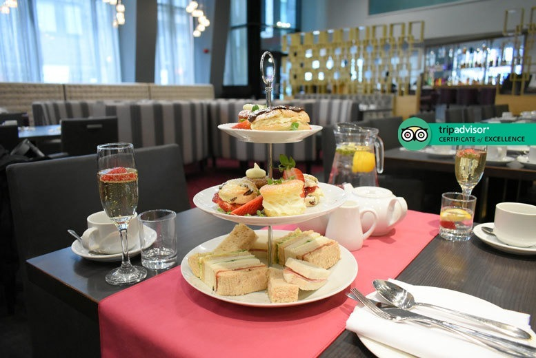 Restaurants & Bars: Gin Afternoon Tea for 2 @ 4* Crowne Plaza Manchester City Centre