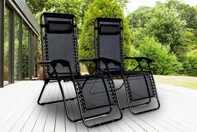 2 Zero Gravity Reclining Garden Chairs