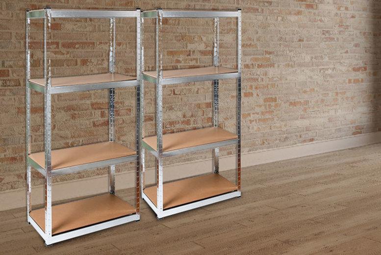 2 Heavy Duty Galvanised Racking Shelves