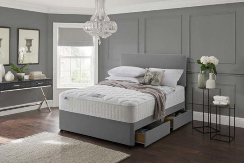 From £69 instead of £369.01 (from DiningTables.co.uk) for a grey fabric divan bed set with a headboard and memory mattress – choose from six sizes plus storage options and save up to 81%