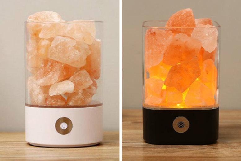 Air Purifier & Crystal Salt Lamp 2 Colours & Designs