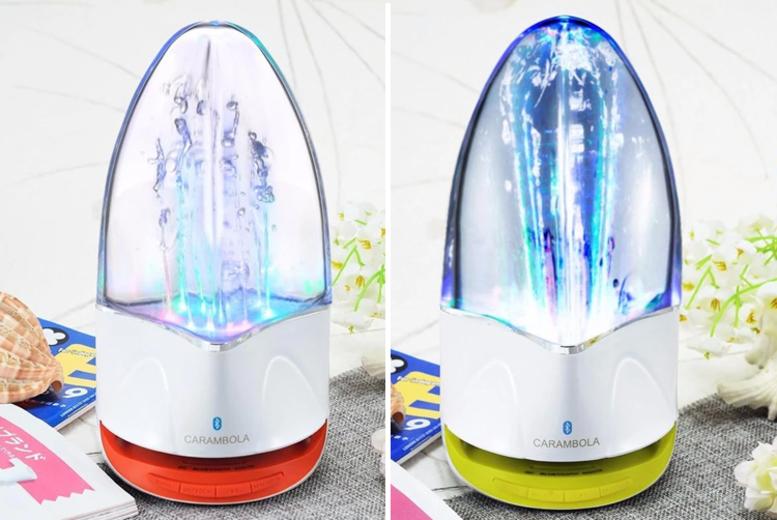 7 LED Sound Activation Water Speaker  4 Colours!