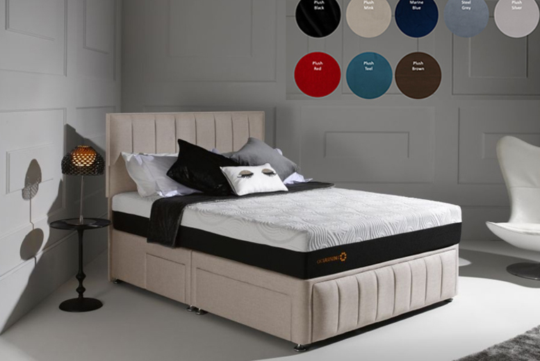 From £279.99 for a Divan fabric bed with panel headboard & optional drawers from Dreamtouch Mattresses LTD – save up to 65%