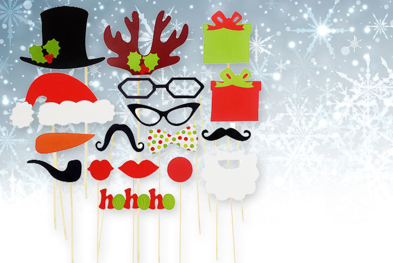 £1.99 from £9.99 (from Alvi's Fashion) for a 17-piece Christmas selfie prop set - strike a pose and save 80%