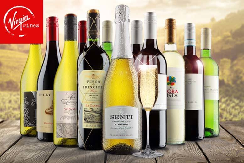 £39.99 (from Virgin Wines) for a 12-bottle selection of hand-crafted boutique wines including a bottle of Prosecco - choose from three varieties and save up to 63%