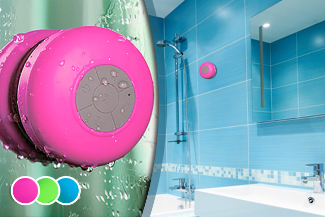£17 instead of £79.99 (from Juggernet.com) for a Bluetooth shower speaker in a choice of colours - save 79%