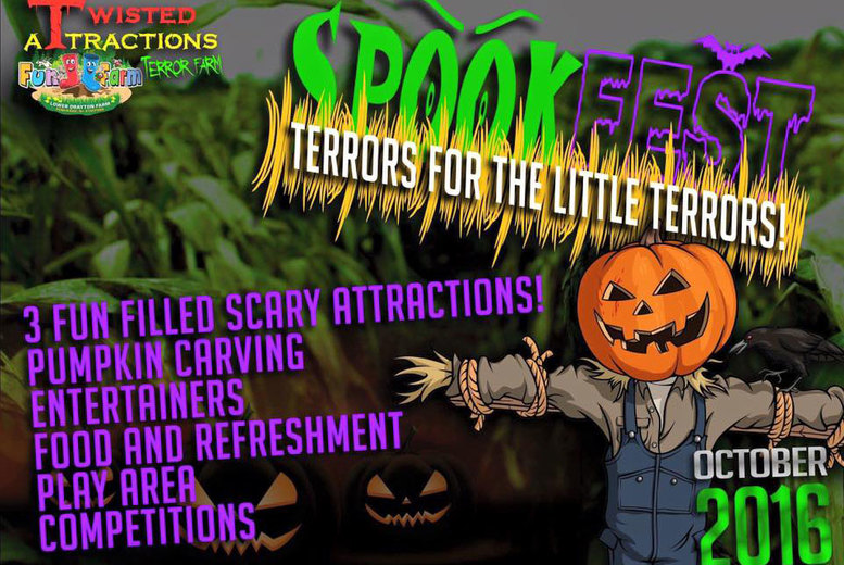 £3.50 for an adult ticket to Spookfest at half-term with a scarecrow maze, hay ride and more, £7 for a child ticket, or £20 for a family ticket at Lower Drayton Farm - save up to 50%