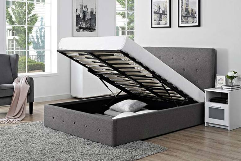 From £169 instead of £1270 (from Ideal Furniture) for a fabric ottoman storage bed – save up to 87%