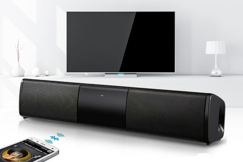 Dual Speaker Cinematic Bluetooth Soundbar