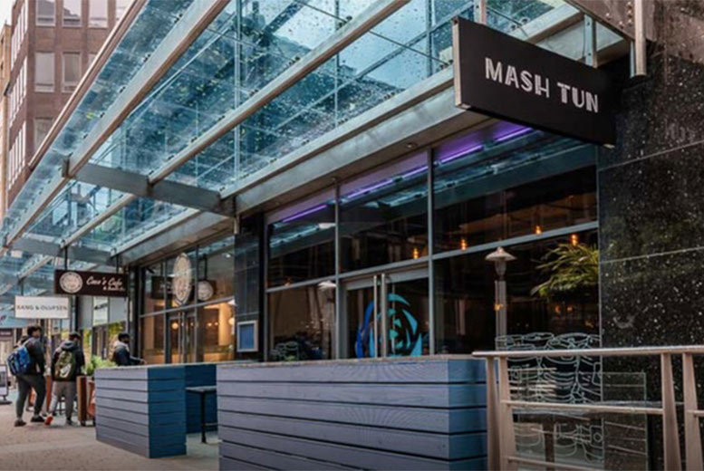 Restaurants & Bars: 2-Course Steak Dining & Wine or Beer for 2 @ Mash Tun, City Centre