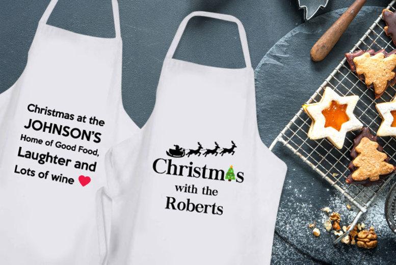 Personalised Christmas Apron – 4 Designs! (£9.99)