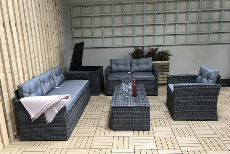 5pc Holly Polyrattan Sofa Set – 2 Colours! (£529)