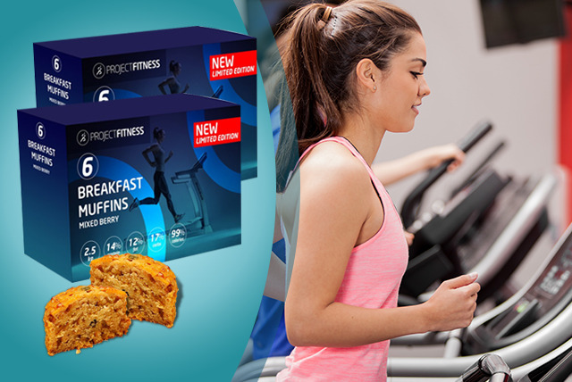 £18 instead of £36 (from Project Fitness) for 4 boxes of protein muffins - save 50% + DELIVERY IS INCLUDED!