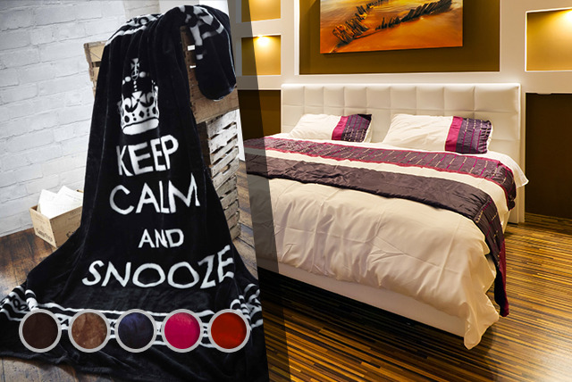 £16.99 instead of £43 (from Groundlevel) for a Keep Calm and Snooze On throw in a choice of colours – save 60%