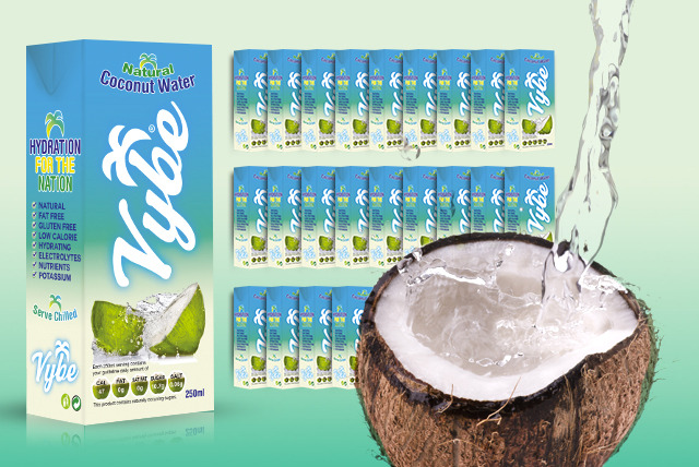 £16.99 instead of £33.60 (from Vybe Ltd) for 24x 250ml cartons of 100% coconut water - save 49%