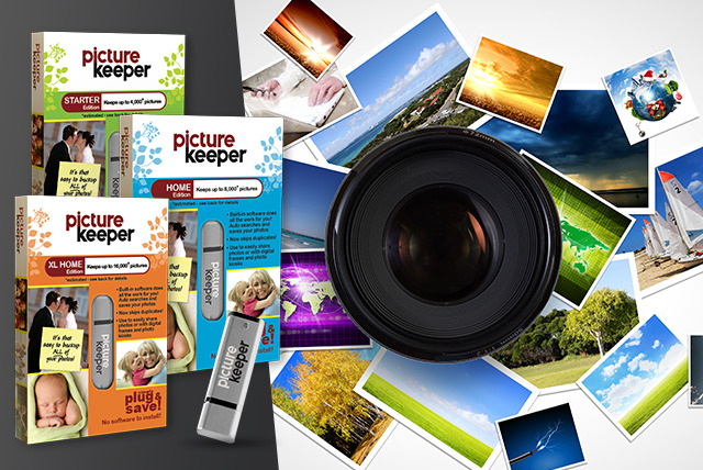 From £9 instead of up to £69.30 (from Picture Keeper) for a portable photo backup drive storing up to 16,000 photos – save up to 50%