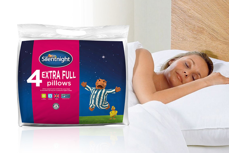 4 Extra-Full Silentnight Pillows (£14.99)