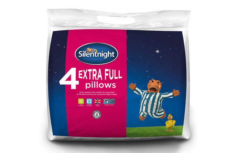 Image of 4 Extra-Full Silentnight Pillows   Living Social