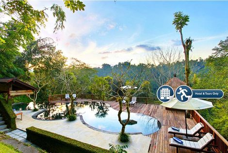 £279pp (at Nandini Bali Jungle Resort & Spa) for a seven-night 5* Bali Jungle Break including breakfast and tours, or £399pp for 10 nights - save up to 43%